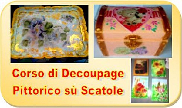 Decoupage pittorico su scatole