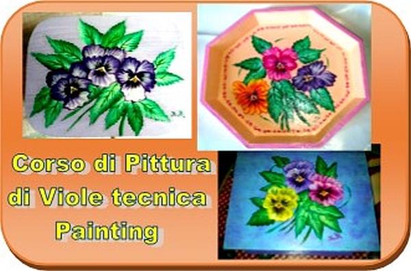 Pittura di viole - Tecnica Painting